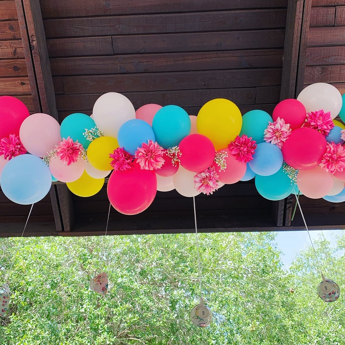 Organic Archballoons with flowers