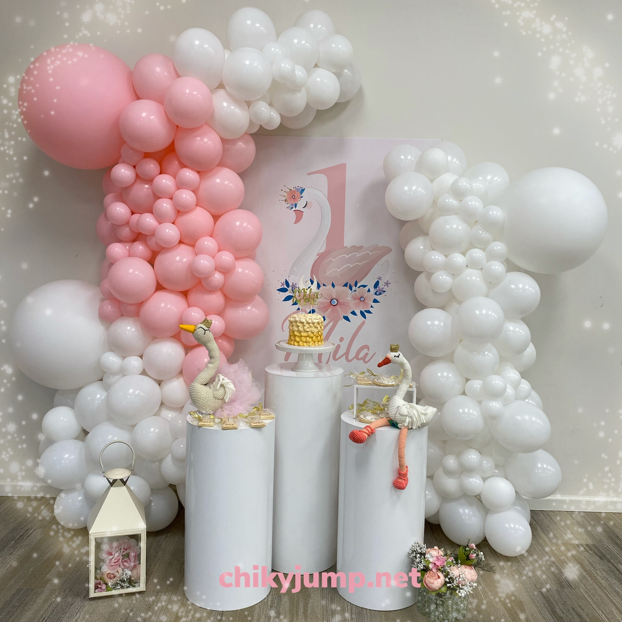Swam Theme Decoration Baptism Celebration, Party Decorations