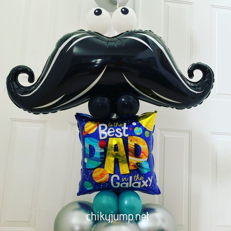 Mustache DAD Bunch Balloon, Balloon Bouquets