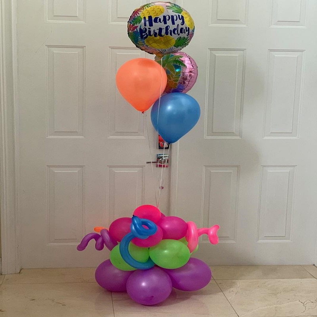 Neon Birthday Bunch Balloon, Balloon Bouquets